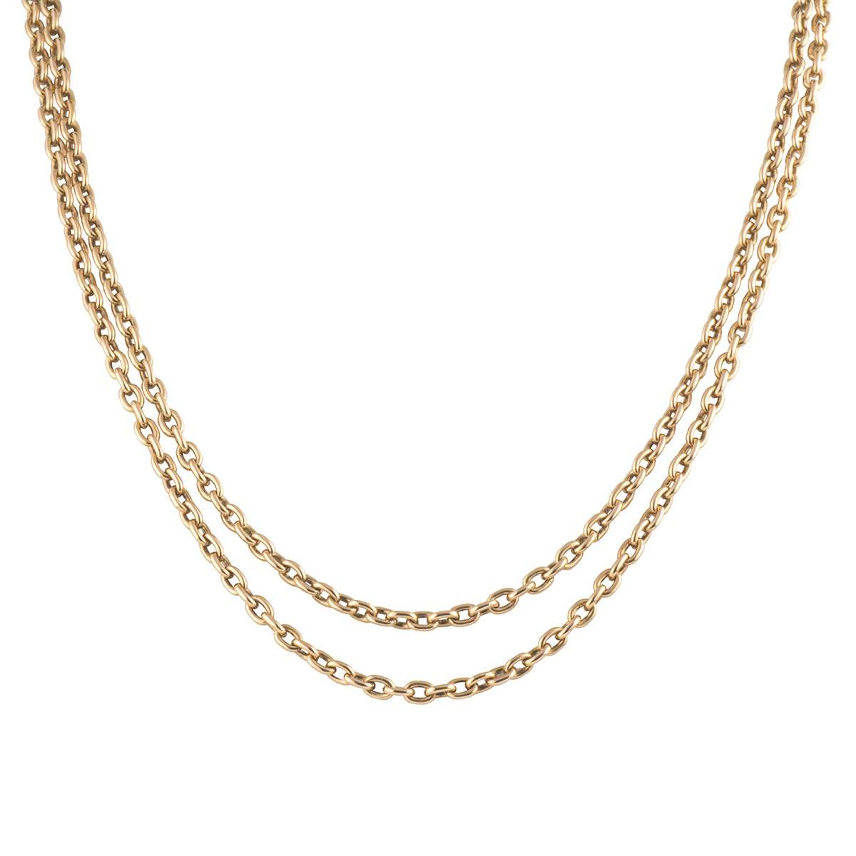 9k Yellow Gold Anchor Link Double Chain